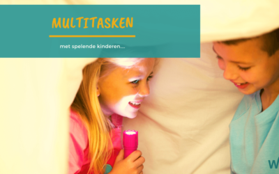 Multitasken, met spelende kinderen …